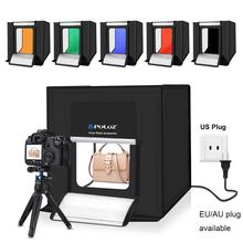 Buy 40cm 16in Mini Photo Box Studio Lightbox Photograghy Softbox Led Photo Lighting Studio Shooting Tent 6 color Backdrop Reflector directly from merchant!