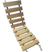 Ladder Guinea-Pig Exercise-Toys Hedgehog Mouse Hamster-Suspension-Bridge Rat Animal Natural-Wood