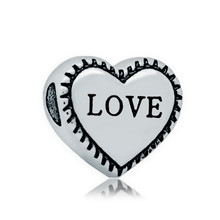 REAMOR Family Member Spacer 316L Stainless Steel Love Heart Metal Big Hole Charm Beads Fits Snake Chain Bracelet on sale(China)