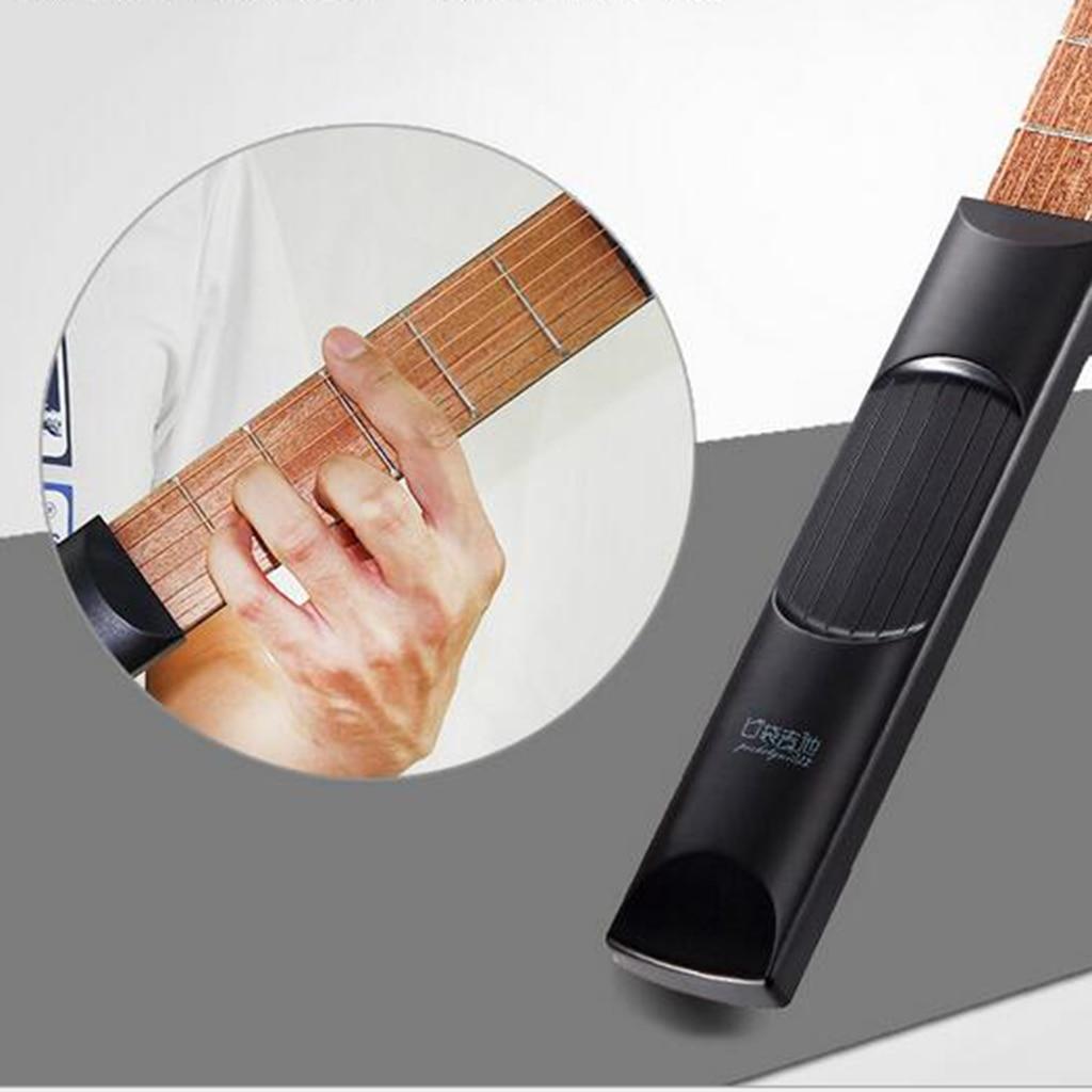 6 Fret Pocket Guitar Bass Travel Gift Mini Guitarra Musical Instruments Finger Exerciser Train Practice Tool For Beginners Kids