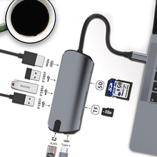 Usb-Hub Smart HDMI Cell-Phone Type-C 4K for Tablet Laptop Super-Hd 8-Ports Fast-Charging-Adapter