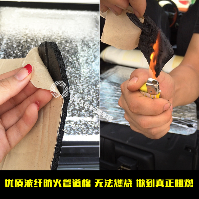 For Smart 451 Smart 453 fortwo frorfour Car Glass Fibre Sound Insulation Proofing Cell Foam Car Hood Engine Firewall Heat Mat