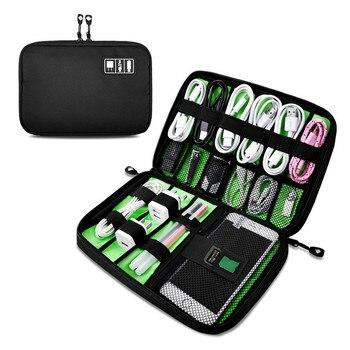 Kablo düzenleyici sistemi seti kutu USB veri kablosu kulaklık tel kalem güç bankası saklama torbaları dijital Gadget cihazları seyahat