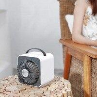 Mini Negative Ion Air Conditioning Fan with Water Tank Desktop Desk Fan Creative Portable Small Fan Vertical Type Gift Fan