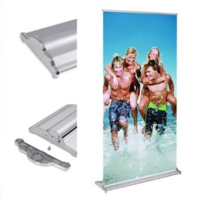 DD 85 X 200cm Retractable Banner Stand with Complete Package Customizable Advertising Display Custom Printed Roll-Up Pull Up