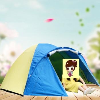 Tienda De Campaña De 3 Habitaciones | 3-4 Personas Ultraligero Doble Capa A Prueba De Lluvia Tienda Para Camping Al Aire Libre Senderismo Caza Pesca Viaje Picnic Turístico 320x210x145cm