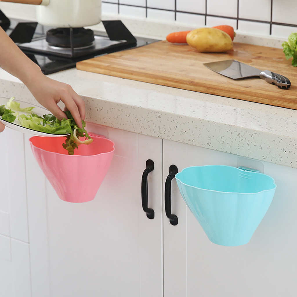 Kitchen Cabinet Door Hanging Trash Bin Trash Can Wall Mounted Trashca Bathroom Accessories Paraguas Зажигалка Кальян  20