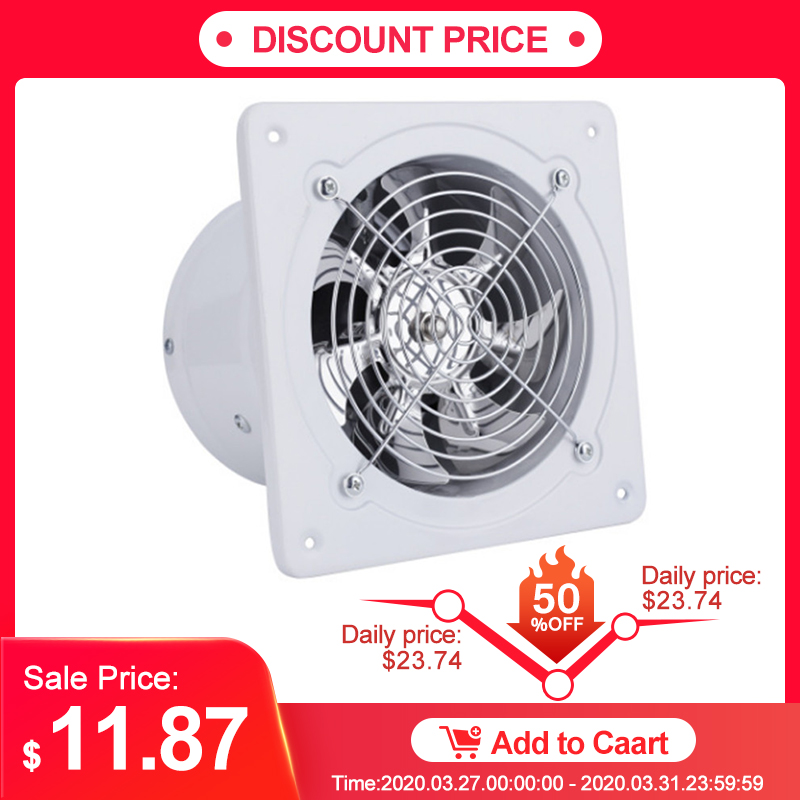 4 Inch 25w 220v High Speed Exhaust Fan Toilet Kitchen Bathroom Hanging Wall Window Glass Small Ventilator Extractor Exhaust Fans