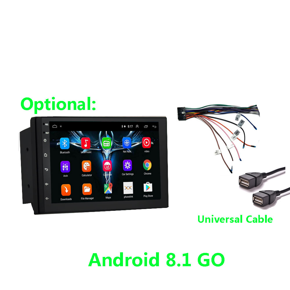 AUTORADIO HD Color Display Universal <font><b>2</b></font> <font><b>Din</b></font> Car Android 8.1 /USB/SD/MP4 MP5 Player for Toyota Chevrolet Nissan Kia Mazda Fit Ford Honda Peugeot ISO Universal with Bluetooth FM Radio Video image