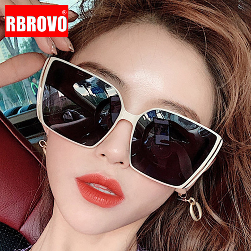 RBROVO Oversized Square Sunglasses Women Retro Luxury Sunglasses Women Brand Designer Glasses For Women Oculos De Sol Feminino