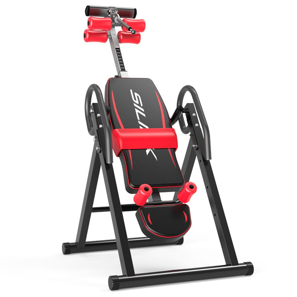 Heavy Duty Gravity Inversion Table Foldable Back Neck Pain Exercise Therapy Bench Home Gym Body Sculpture