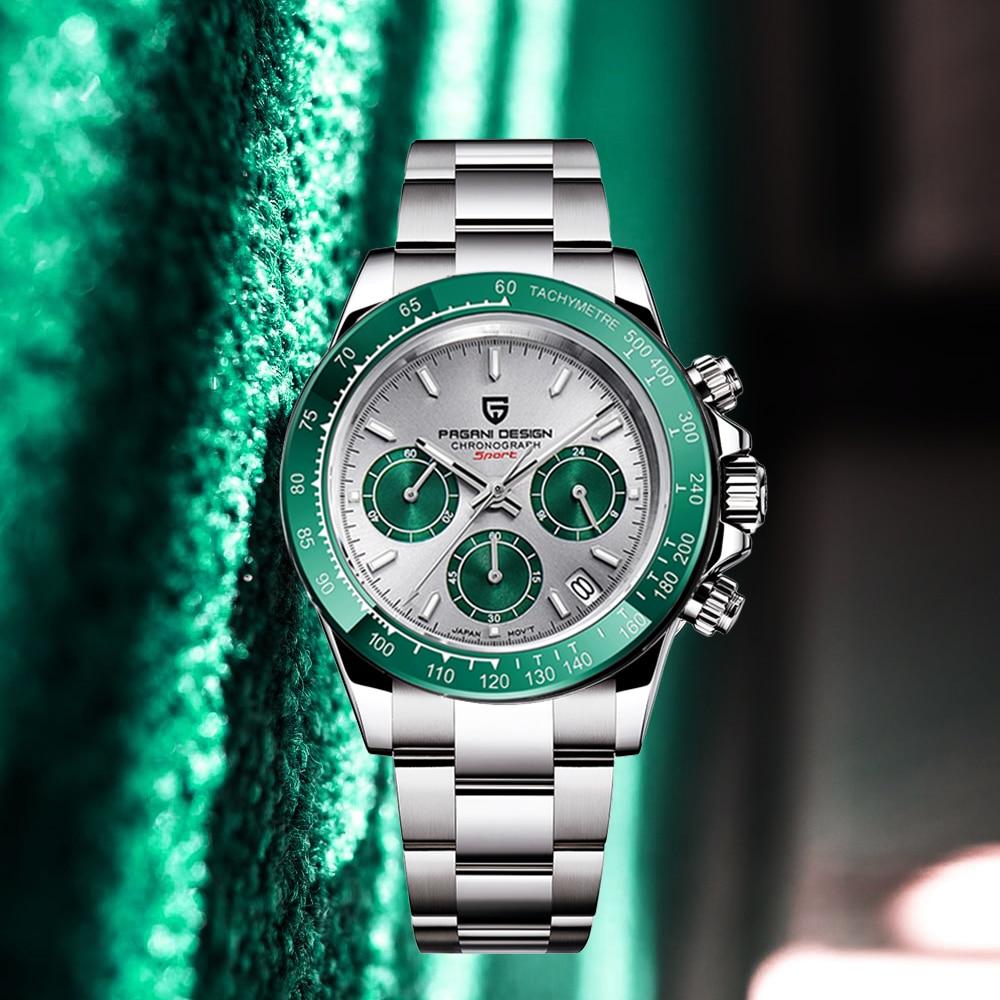 2020 NEW PAGANI DESIGN Men's watches Luxury automatic watch date men quartz watches for men Chronograph Japan VK63 reloj hombre Quartz Watches  - AliExpress