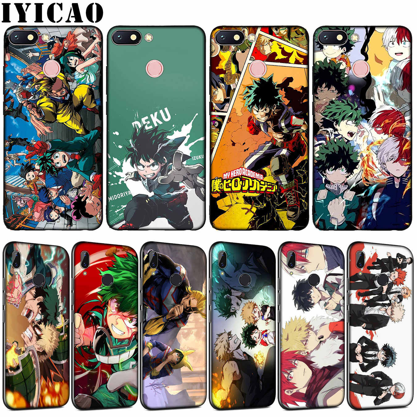 Iyicao Mijn Hero Academia Soft Tpu Siliconen Telefoon Case Voor Xiaomi Redmi Note 8 8A 8T 7 7A 6 6A 5 5A Gaan S2 K30 K20 Pro Cover