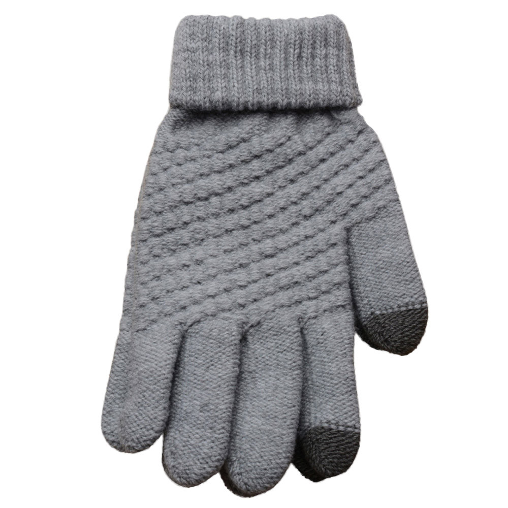 Sleeper #P501 2019 NEW Knit Wool Man Women Winter Keep Warm Mittens Gloves перчатки Guantes Luva Solid Color Casual Gifts Hot