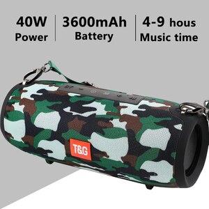 Уличный Bluetooth динамик 40 Вт, сабвуфер, динамик TWS, водонепроницаемый портативный музыкальный плеер, 3600 мАч, аккумулятор, звуковая панель caixa de
