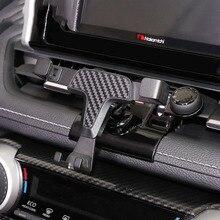 トヨタ RAV4 RAV 4 XA50 2019 2020 自動車電話ホルダー香り特別なサイズ炭素繊維車の香水