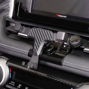 Image 1 - トヨタ RAV4 RAV 4 XA50 2019 2020 自動車電話ホルダー香り特別なサイズ炭素繊維車の香水