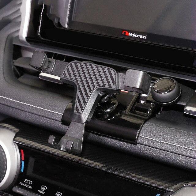 Автомобильный держатель для телефона Toyota RAV4, автомобильный держатель для телефона XA50, специальный размер, Углеволокно, автомобильный парфюм, 2019, 2020