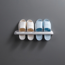 Shoes Hanger Storage-Rack Shelf Slippers Sticky-Hanging Bathroom Wall-Mounted Home