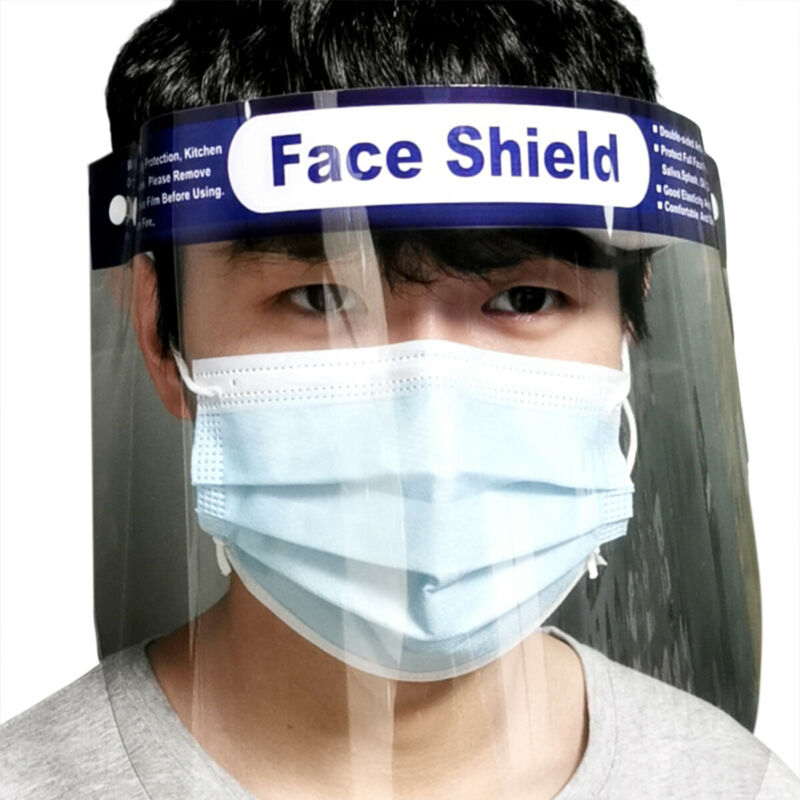 2020 New Clear Face Cover Mask Full Face Shield Clear Glasses Dust-proof Anti-fog Protect Tool
