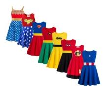 Superhero Wonder Woman Girl Tutu Dress Kids Cosplay Costume Christmas Halloween Dress Up batman Ironman captain america spiderm
