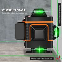 1Set 16 Lines 4D Infrared Ray Level Self Leveling 360 Degree Green Light Level 37MD|Laser Levels|   -