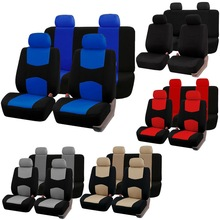 цена на 9pcs Automobiles Seat Covers Full Car Seat Cover Universal Fit Interior Accessories Cloth Art Car Seat Protector Car-Styling