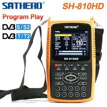 Sathero SH 810HD 3.5 inch TFT LCD Screen DVB S2 DVB T2 Combo Digital Signal Finder Support CCTV 8PSK 16APSK Digital Meter 810HD