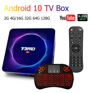Mais recente t3 pro caixa de tv android ultra hd 6k wifi bt 4gb 64g 128g play store muito rápido definir caixa superior h.265 tv apoio receptor youtube