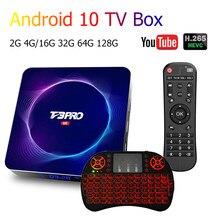 Mais recente t3pro android caixa de tv ultra hd 6k wifi bt 4gb 64g 128g play store muito rápido definir caixa superior h.265 tv apoio receptor youtube