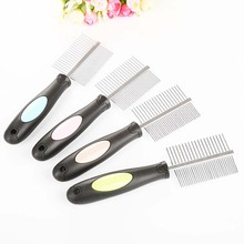 Professional Pet dog stainless steel comb anti-flea double-sided needle cat beauty products