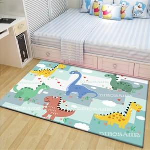 Cartoon Dinosaur Kids Bedroom Area Rugs Soft Baby Play Crawling Rug Children Game Mat Bedside Carpet Living Room for Home Decor