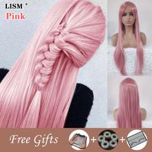 Длинный прямой волнистый парик женский натуральные синтетические