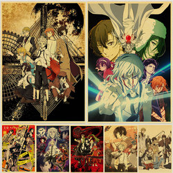 Japanese Anime Bungo Stray Dogs Poster Kraft Paper Retro Style Art Posters Living Room Painting Home Wall Decor Stickers