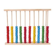Wooden 10-row Abacus Counting Colorful Beads Maths Learning