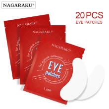 NAGARAKU Eyelashes Makeup 20 Pairs/Pack Under Eye Pads Patches Gel Patch for Eyelash Extensions Tools Under eye pads Lint free