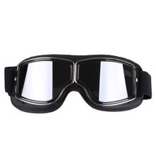 Universal óculos de proteção da motocicleta do vintage piloto moto scooter biker óculos steampunk para moto capacete