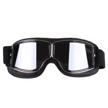 العالمي للدراجات النارية Vintage نظارات الطيار دراجة نارية سكوتر السائق نظارات Steampunk نظارات ل موتو خوذة