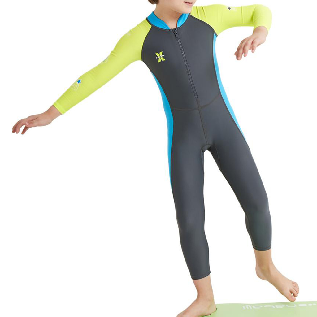 Kids Swimsuit Girls Boy Long Sleeve UV Sun Protection Full Body Rash Guard