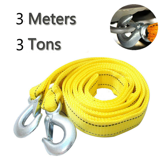 U-Shaped Hook, 5T High Strength Towing Strap BOYUNLE 5m Heavy-Duty Tow Rope Towing Belt for Vehicles