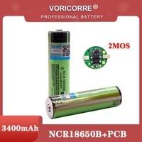 Batteria ricaricabile li-lon 2021 NCR18650B 18650 mAh originale protetta al 3400 con PCB 3.7V per batterie torcia