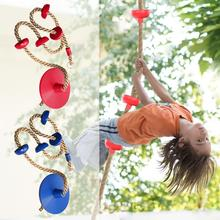 Jungle Gym Climbing Rope with Platforms and Disc Swing Seat Fitness Swing Set Accessories Kids Swing Seat Toy cheap CN(Origin) Plastic In-Stock Items Swing Rope Outdoor 3 years old