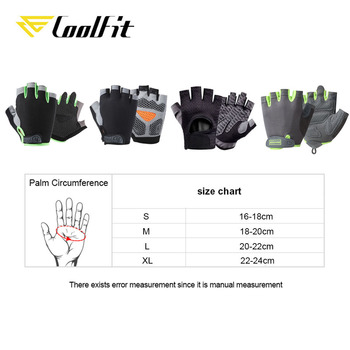 CoolFit Breathable Fitness Gloves Silicone Palm Hollow Back Gym Gloves Weightlifting Workout Dumbbell Crossfit Bodybuilding 6