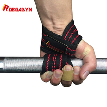 One Pair ROEGADYN Weightlifting Cotton Wrist Strap For Fitness Lifting Support B