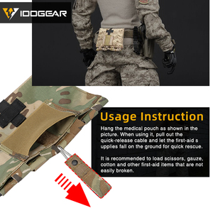 Image 4 - IDOGEAR Tactical First Aid Kit Pouch Medical Organizer Pouch MOLLE 9022B Medical Equipment 3548
