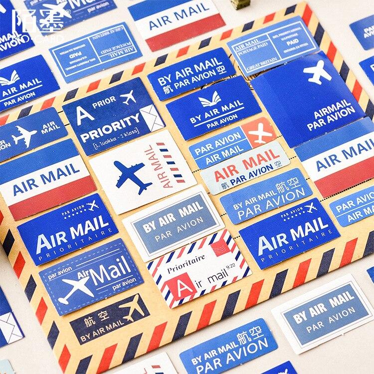 Mohamm Airmail mektup yaratıcı el kitabı dekorasyon çıkartmaları Scrapbooking kırtasiye planlayıcısı aksesuarları ofis malzemeleri