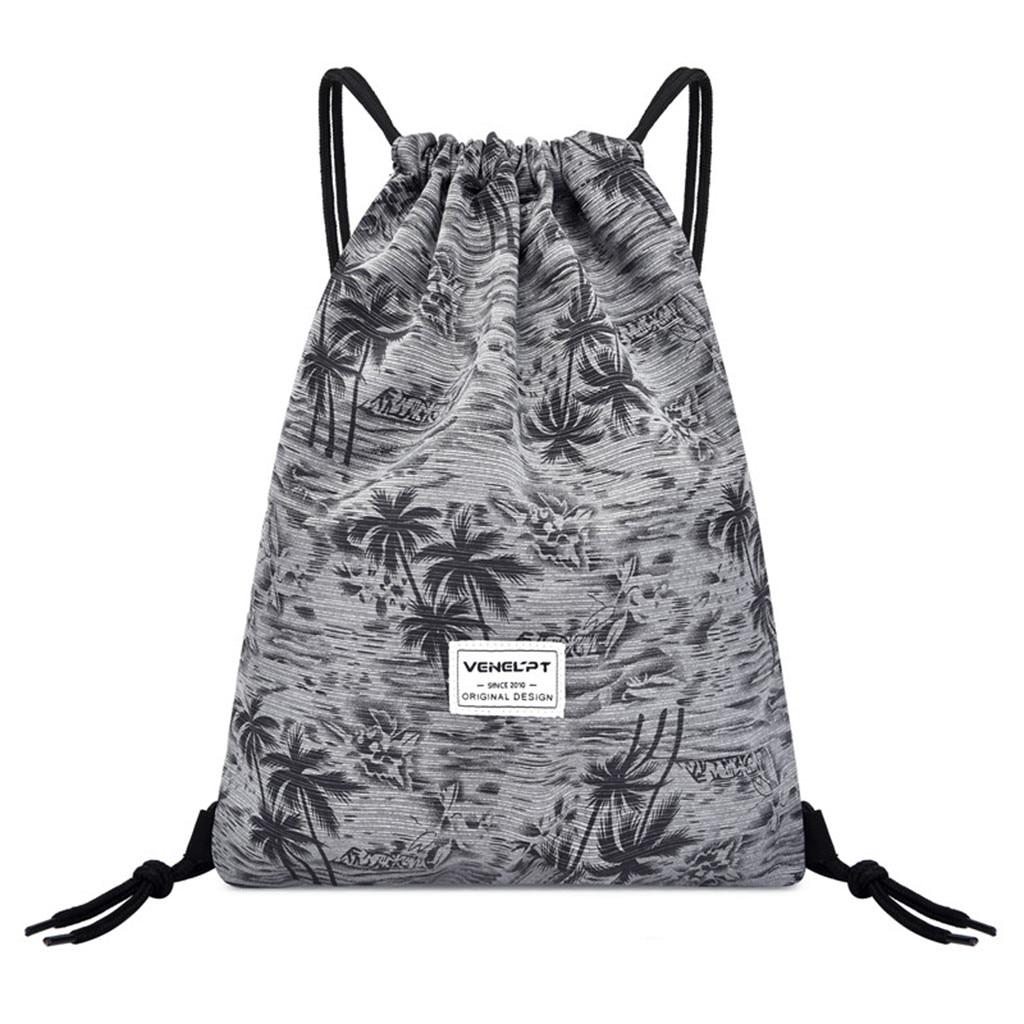 Maison Fabre Fashion Casual Unisex Bundle Rope Sport Backpack School Bags Travel Beach Print Women Men Water Resistant Bags A40#