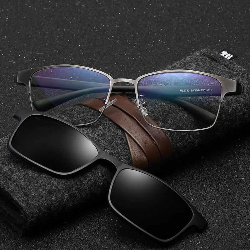 Поляризованные солнцезащитные очки для мужчин и женщин с магнитным зажимом, солнцезащитные очки для ночного видения, очки для вождения