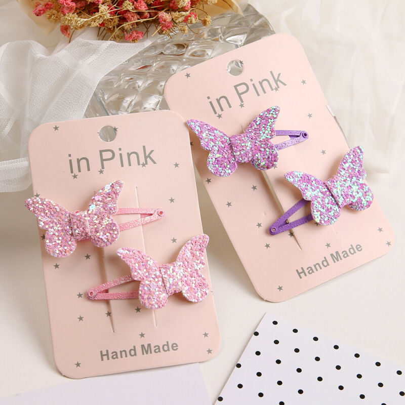 2020 Baby Accessories Cute Kids Girls Baby Glitter Shiny Sequin Bowknot Hair Clip Hair Bow Hairpin Sequin Headwear Photo Props