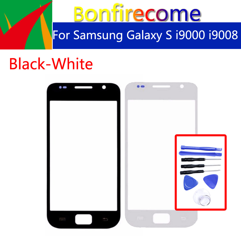 I9000 Touchscreen For Samsung Galaxy S I9000 I9008 LCD Front Outer Glass Touch Screen Lens Replacement 4.0